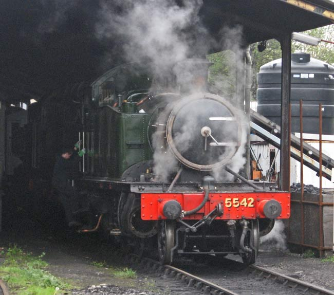 5542 during the steam test