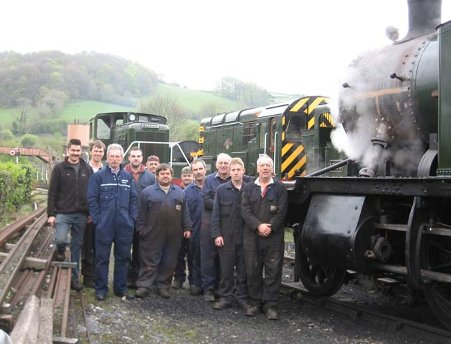 The overhaul team at Buckfastleigh.