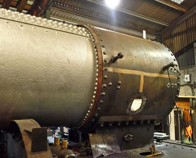 Smokebox attached and ready for fitting the outside steam pipes.