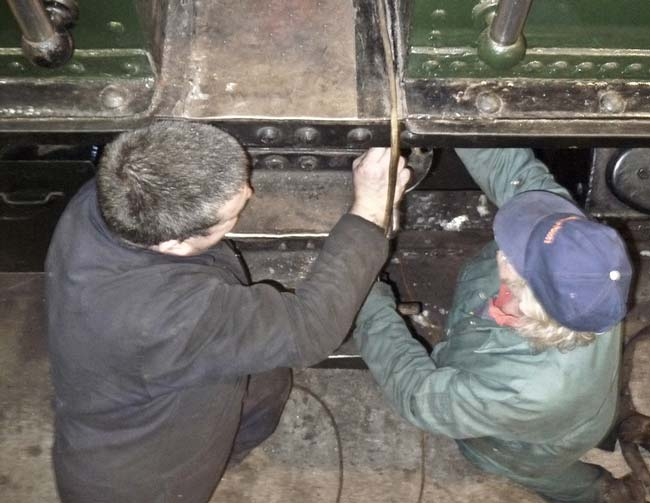 Work beneath the footplate
