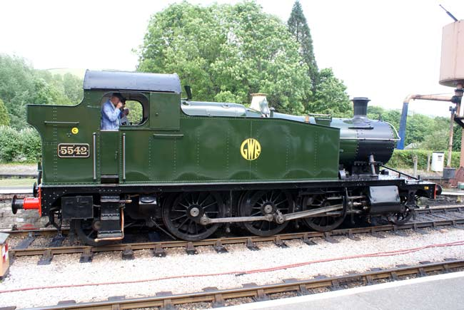 5542 at Buckfastleigh, South Devon Railway