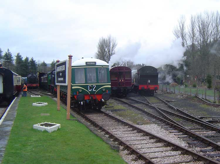 Busy yard at Buckfastleigh