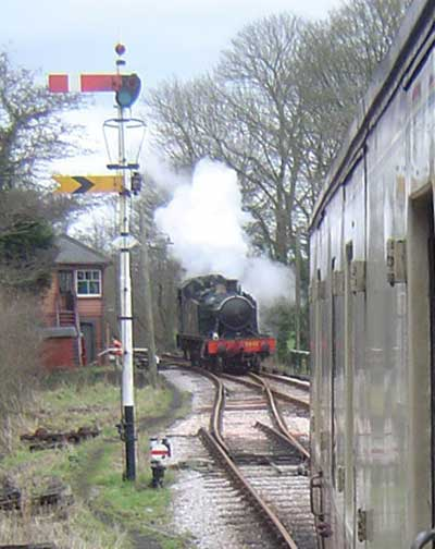 5542 running round at Bishops Bridge