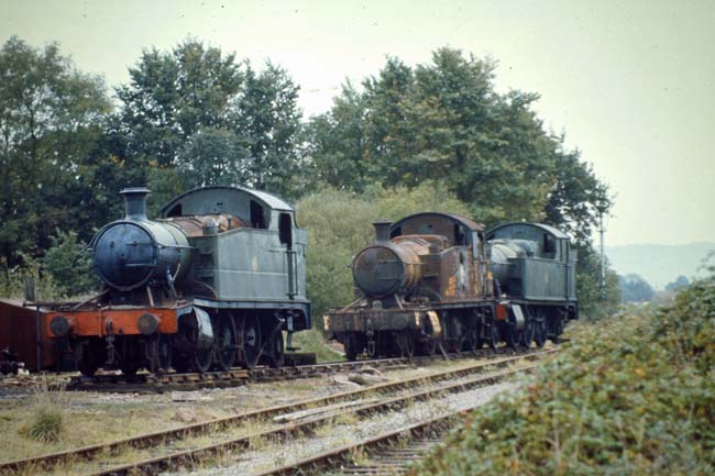 Prairies 5521, 5542 and 4561 at Bishops Lydeard.