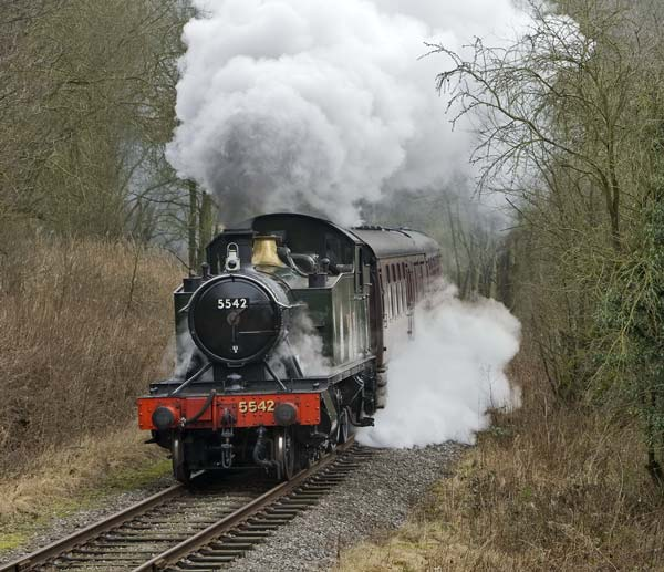5542 on the Churnel Valley Railway