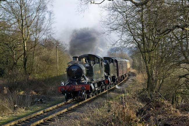 5542 and 5199 with the Cambrian Coast Express, Churnet Vally style