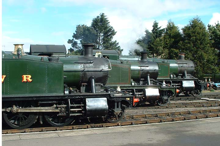 Three prairies at Minehead - 5542, 5553 and 4160